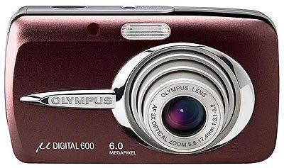 Olympus Mju 600 Digital červený + Mju digital kit!!!