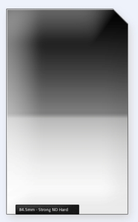 84.5mm Professional 150mm ND filtr silný s ostrým přechodem