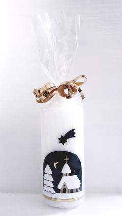 Vánoční svíčka z chráněné dílny