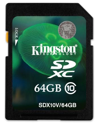 Kingston SDXC 64GB Class 10