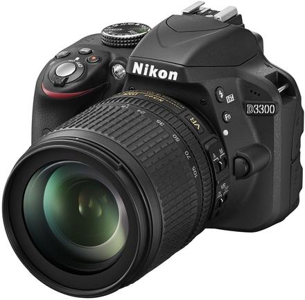 Nikon D3300 + 18-105 mm VR + 16GB Ultra + originální brašna + UV filtr 67mm!