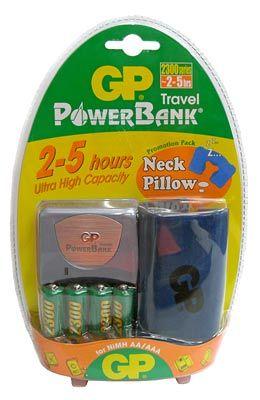 GP nabíječka PowerBank Travel + 4x AA 2300 mAh + dárek