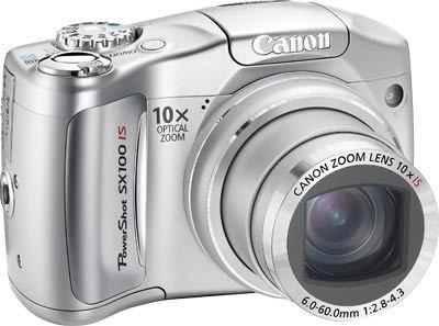 Canon PowerShot SX100 IS stříbrný