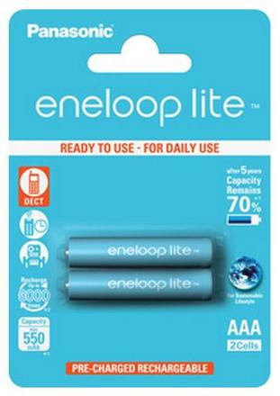 Panasonic Eneloop Lite AAA baterie 550 mAh 2 ks