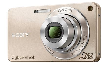 Sony CyberShot DSC-W350 zlatý