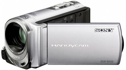 Sony DCR-SX33E stříbrná + 8GB karta zdarma!