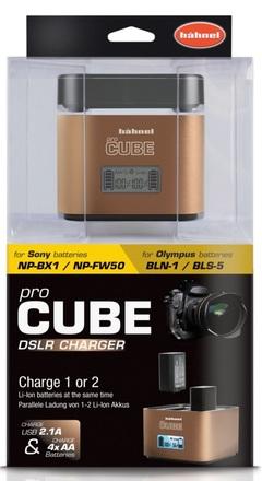 Hahnel univerzální nabíječka CUBE nejen pro Sony a Olympus