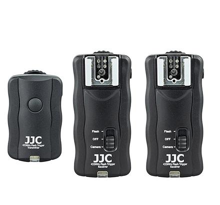 JJC bezdrátová dálková spoušť a odpalovač blesků 3v1 Kit JF-U2