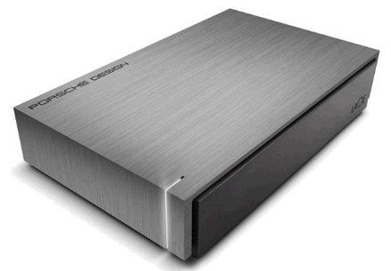 """LaCie Porsche Design Mobile 4TB HDD, 3.5"""" USB 3.0, hliníkový,"""