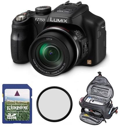 Panasonic Lumix DMC-FZ150 + 8GB karta + brašna Delta M + filtr UV 52mm!