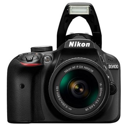 Nikon D3400 + 18-55 mm AF-P VR + 32GB karta + originální brašna + filtr ochr. 55mm + poutko na ruku!