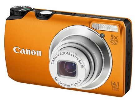 Canon PowerShot A3200 IS oranžový