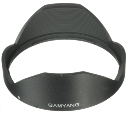 Samyang sluneční clona pro 12mm f/2,0 a T/2,2