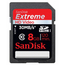 SanDisk 8GB SDHC Extreme HD Video 30MB/s