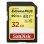 SanDisk SDXC 32GB Extreme PLUS 90MB/s Class 10 UHS-I U3 V30
